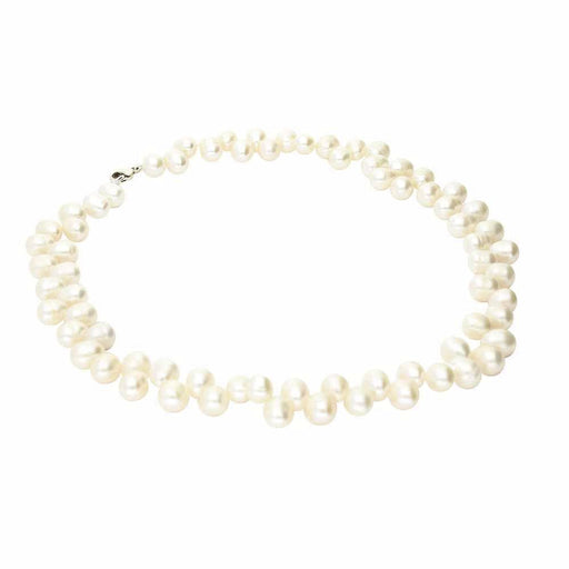 Rock Lobster Neckwear Silver white pearl necklace