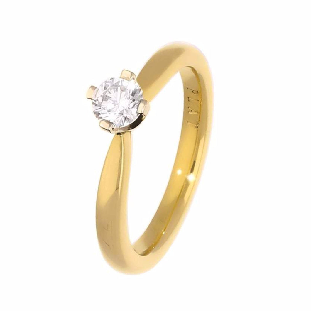 Rock Lobster Ring The claire ring is yellow gold with a brilliant cut diamond set in platinum