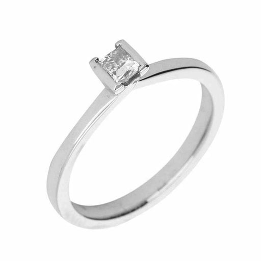 Rock Lobster Ring The sally ring is made in platinum with a princess cut diamond
