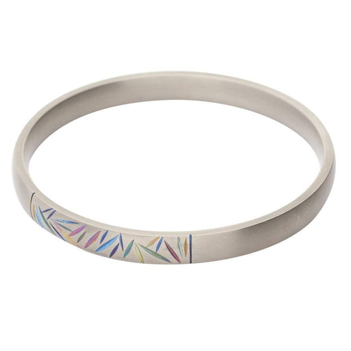 Rock Lobster Bangle Titanium coloured etched bangle