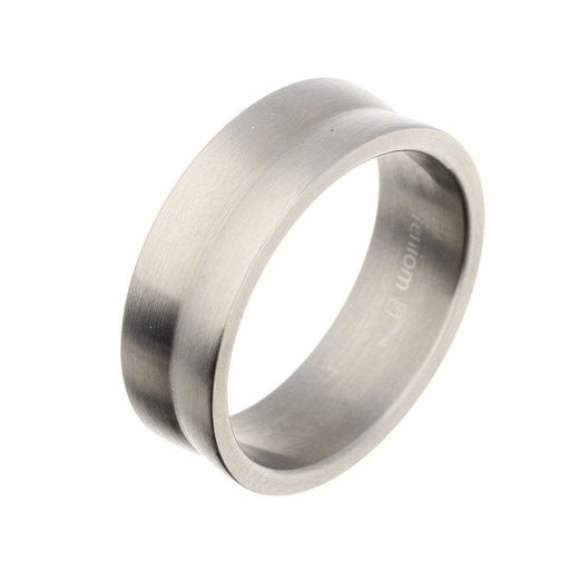 Rock Lobster Ring Titanium convex profile band