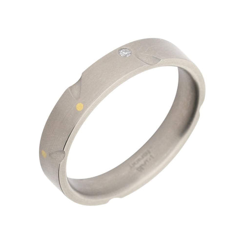 Rock Lobster Ring Titanium diamond band