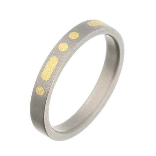 Rock Lobster Ring Titanium morse code band