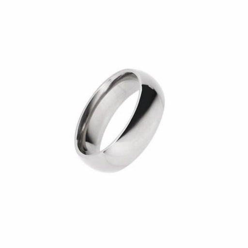 Rock Lobster Ring Titanium plain 6mm court ring