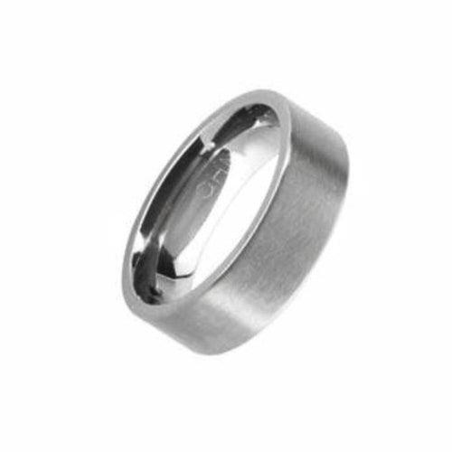 Rock Lobster Ring Titanium plain flat band