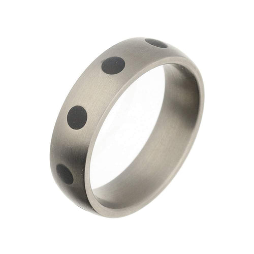 Rock Lobster Ring Titanium rubber spotted court band