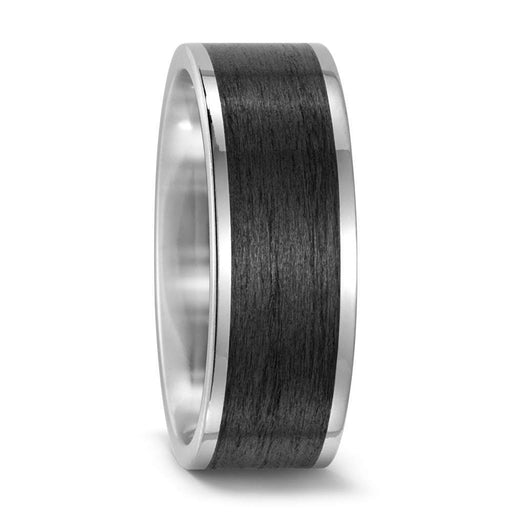 Rock Lobster Ring Titanium satin finish carbon band