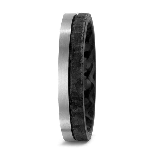 Rock Lobster Ring Ttianium Carbon textured band