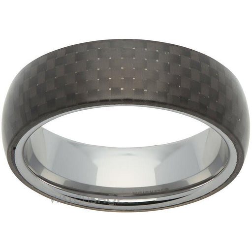 Rock Lobster Ring Tungsten Steel black carbon ring