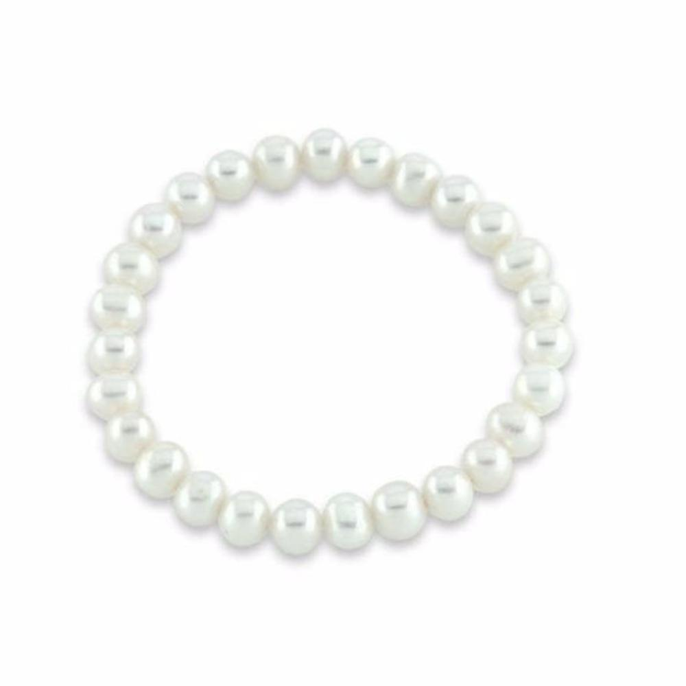 Rock Lobster Bracelet White 9mm Pearl bracelet