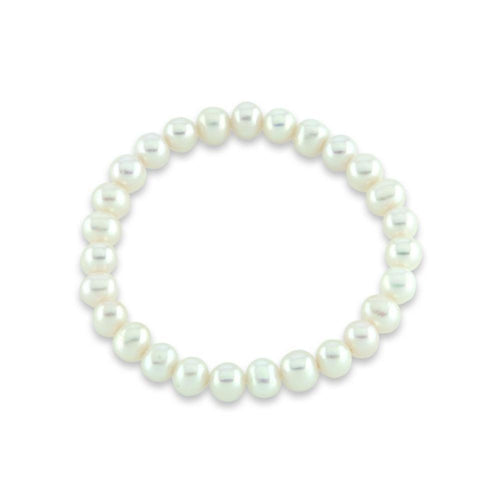 Rock Lobster Bracelet White freshwater 5mm pearl elasticated bracelet