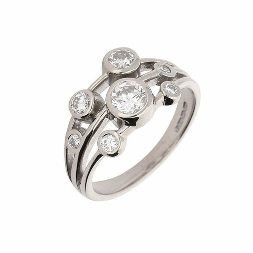 Rock Lobster Ring White gold seven diamond bubble ring