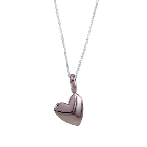 Pendant Rose Gold Silver totally devoted heart pendant