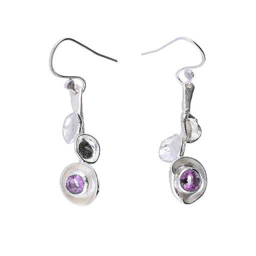 Sally Ratcliffe Earrings Sally Ratcliffe Silver Amethyst seawrack cup earrings