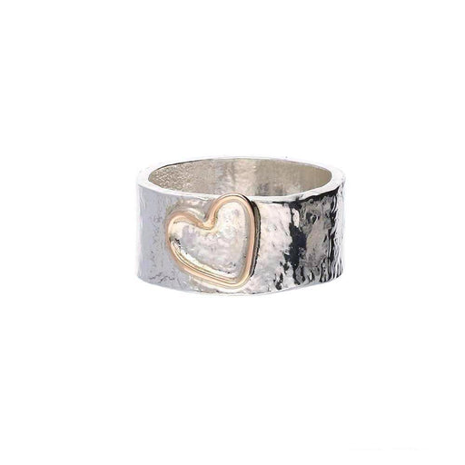 Sally Ratcliffe Ring Sally Ratcliffe Silver rose gold heart ring