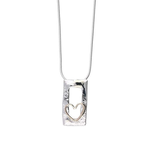 Sally Ratcliffe Pendant Sally Ratcliffe Silver rose gold wire heart pendant