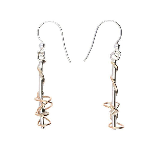 Sally Ratcliffe Earrings Sally Ratcliffe Silver rose gold wire post hooks