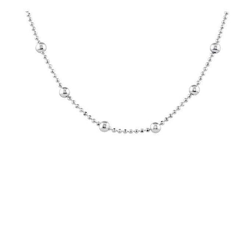Anklet Silver beaded ankle chain