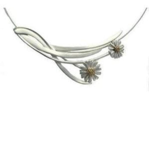 Necklace Silver daisy neckwire necklace