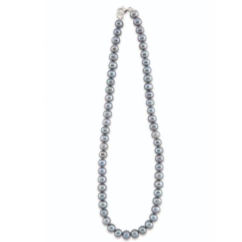 Neckwear Silver grey freshwater pearl necklace