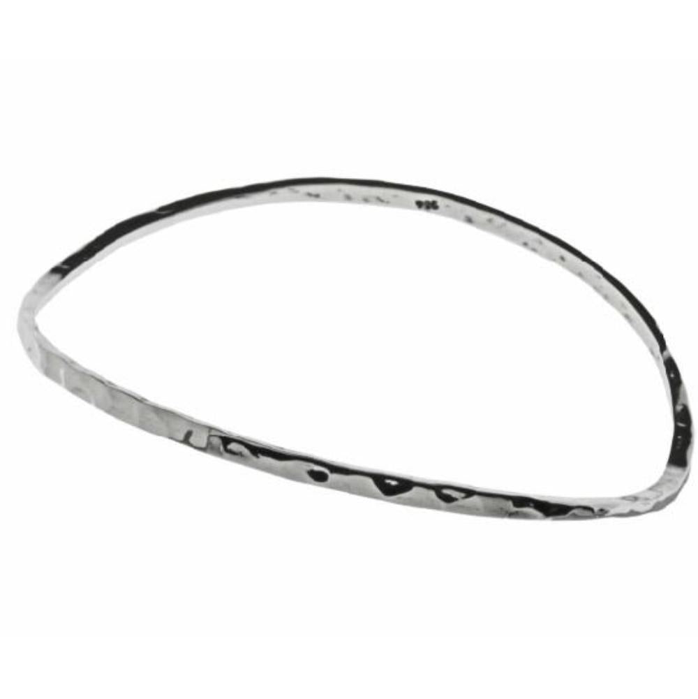 Bangle Silver hammered wavy bangle