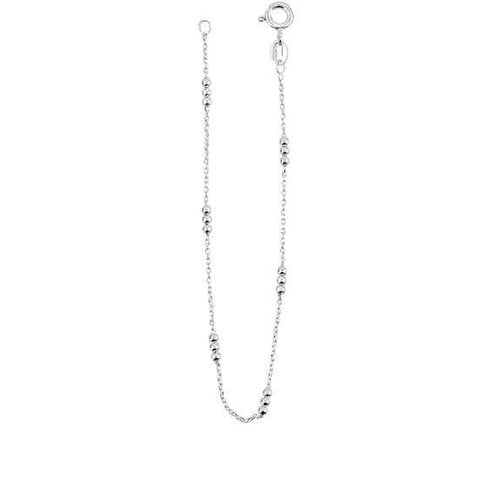 Anklet Silver triple bead ankle chain
