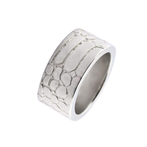 Ring Silver wide snakeskin ring