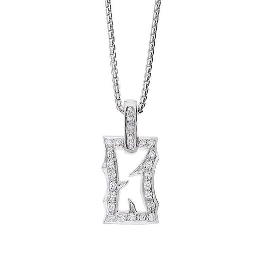 Stephen Webster Pendant Stephen Webster 18ct white gold diamond tattoo rectangle pendant
