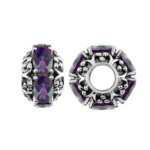 StoryWheels Storywheel Storywheels Silver Amethyst large wheel
