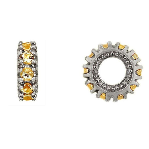 StoryWheels Storywheel Storywheels Silver citrine November birthstone small wheel