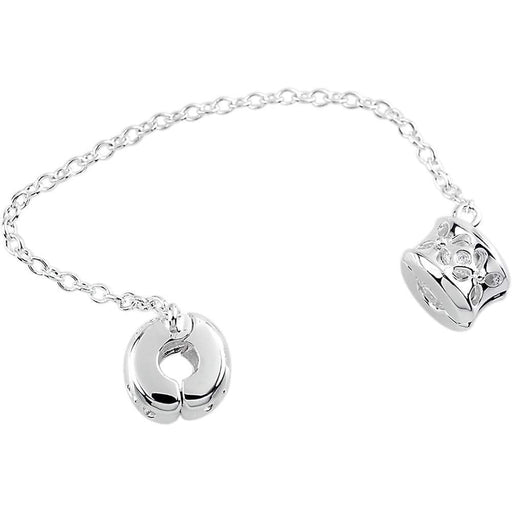 StoryWheels Storywheel Storywheels Silver flower safety chain