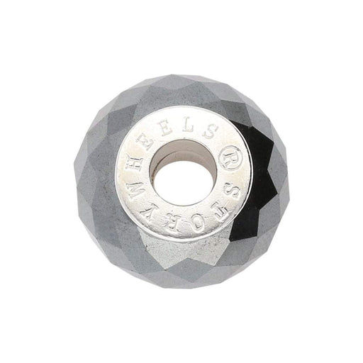 StoryWheels Storywheel Storywheels Silver hematite facet wheel
