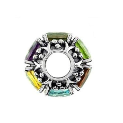 StoryWheels Storywheel Storywheels Silver mutli gemstone large wheel