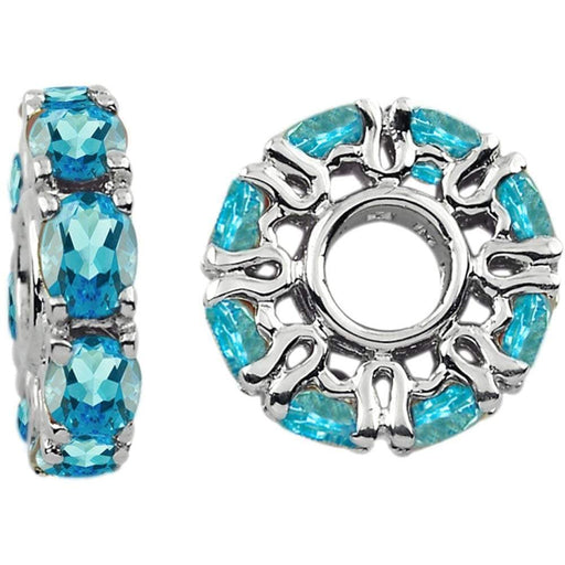 StoryWheels Storywheel Storywheels Silver swiss blue topaz December wheel