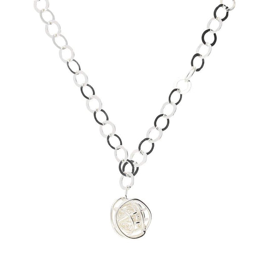 Tara Kirkpatrick Necklace Clarity Silver small nest necklace with large links