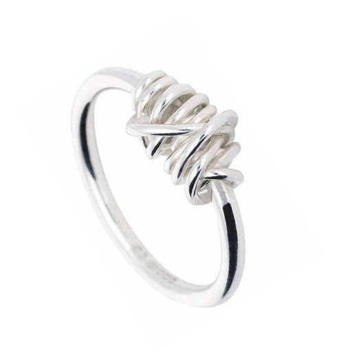 Tara Kirkpatrick Ring Clarity Silver wire wrap section ring