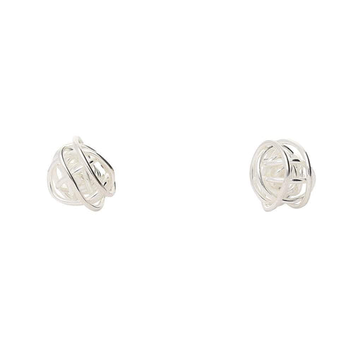 Tara Kirkpatrick Earrings Silver wire ball studs