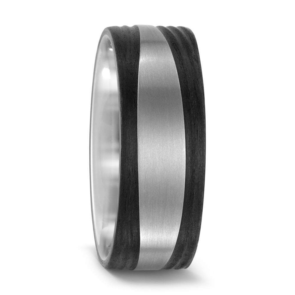 Titan Factory Ring Titanium and Carbon wavey edged band