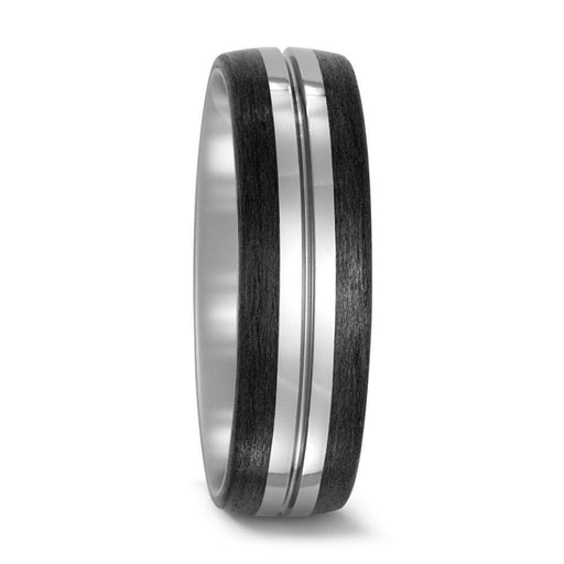 Titan Factory Ring Titanium & Carbon band with groove