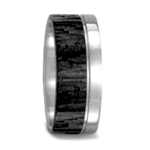 Titan Factory Ring Titanium Carbon bark effect band