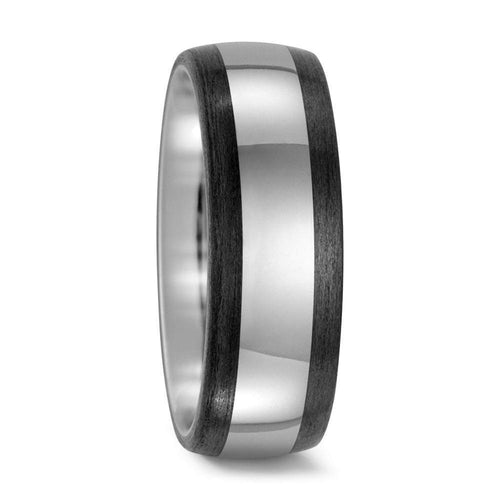 Titan Factory Ring Titanium Carbon edged band