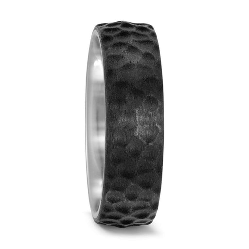 Titan Factory Ring Titanium Carbon hammered band