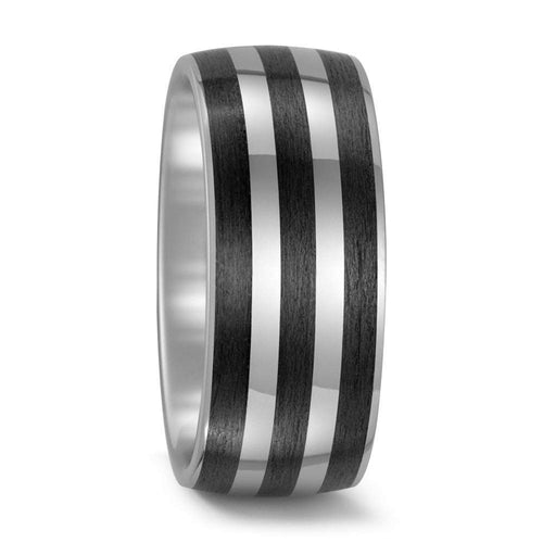 Titan Factory Ring Titanium Carbon triple stripe band