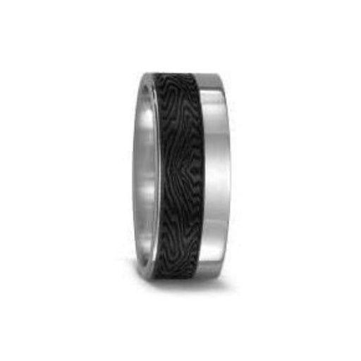 Titan Factory Ring Titanium off set Carbon textured band