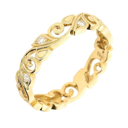Ungar & Ungar Ring Ungar 18ct gold diamond floral band