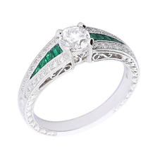 Load image into Gallery viewer, Ungar & Ungar Ring Ungar 18ct white gold diamond tsavorite ring