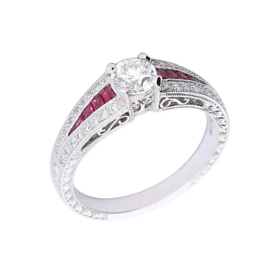 Ungar & Ungar Ring Ungar & Ungar white gold diamond and ruby ring