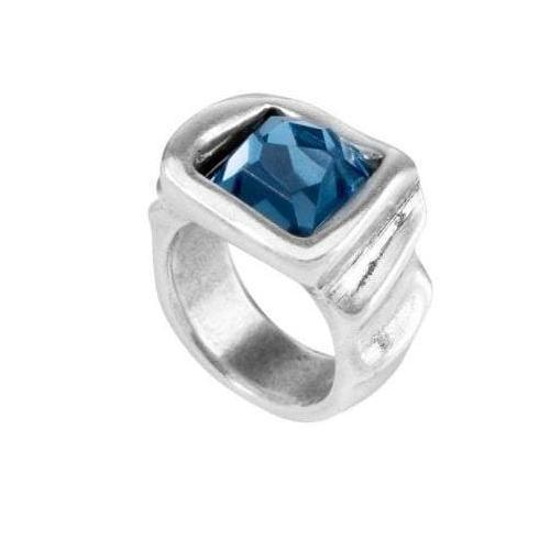 Uno De 50 Ring Uno de 50 Silver blue swarovski Je Jewel ring L