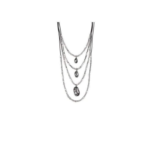 Uno De 50 Necklace Uno de 50 Silver grey swarovski and yes necklace