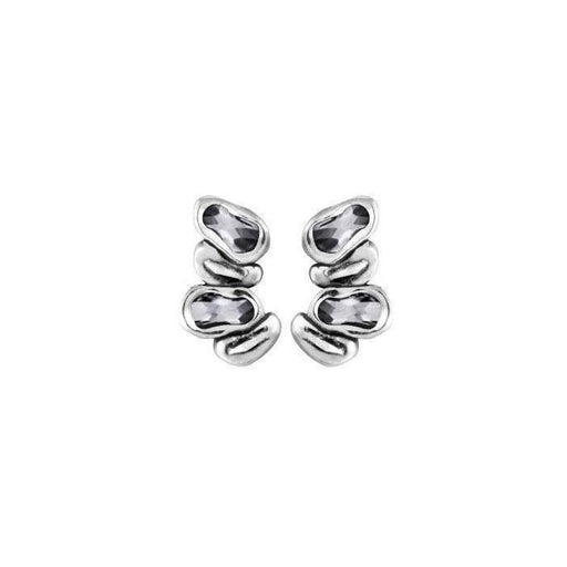 Uno De 50 Earrings Uno de 50 Silver grey swarovski scales stud earrings